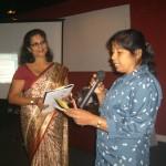 Each group presenting their work