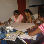 Participants engaged in an interactive group session